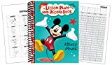 """Eureka Mickey 40 Week Lesson Plan and Record Book, Measures 8.5"""" x 11"""""""