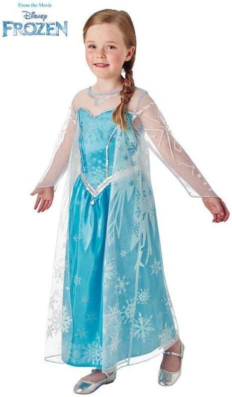 Disney Frozen - Disfraz de princesa Elsa para niña, infantil 3-4 ...