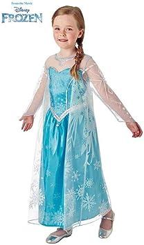 Disney Frozen - Disfraz de princesa Elsa para niña, infantil 5-7 ...