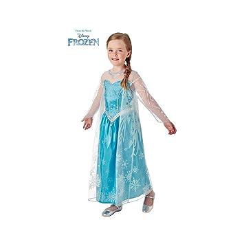 Disney Frozen - Disfraz de princesa Elsa para niña, infantil 3-4 años (Rubies 630574-S)