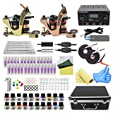Wormhole Tattoo Complete Tattoo Kit with Case Tattoo Power Supply Kit 20 Tattoo Inks 30 Tattoo Needles 2 Pro Tattoo Machine Kit Tattoo Supplies Tattoo Kit for Beginners TK1000022