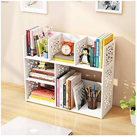 デスク上置棚 デスクオーガナイザー、デスクトップ本棚カウンタートップ本棚、オフィス用品のストレージ主催展示棚ラック、キッチン、バスルーム、メイクアップ ファイルキャビネット (Color : Pink)