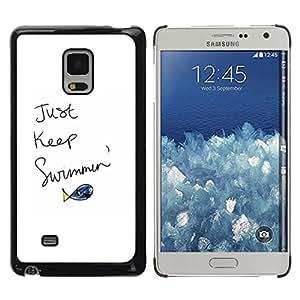 Be Good Phone Accessory // Dura Cáscara cubierta Protectora Caso Carcasa Funda de Protección para Samsung Galaxy Mega 5.8 9150 9152 // Just Keep Swimming Fish Quote Motivational