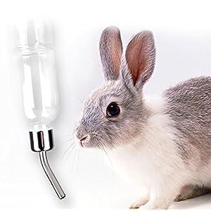 YingNeng Pet Stainless Steel Hanging Drinking Straws Water Bottle Feeder Pet Rat Hamster Rabbit 180ml