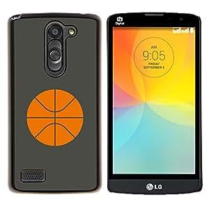 LECELL--Funda protectora / Cubierta / Piel For LG L Bello L Prime -- Baloncesto Naranja minimalista Deporte --