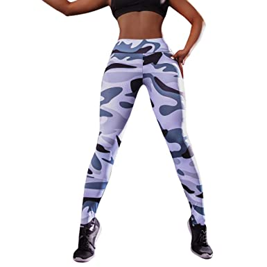 Pantalones Fitness de Yoga Mujeres SUNNSEAN Largos Casuales ...