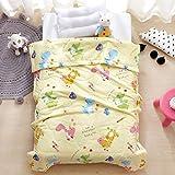 quilting filling - LIFEREVO Cotton Baby Toddler Blanket Spring Summer Quilt Fancy Cartoon Print Lightweight 43