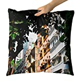 Westlake Art - City Frame - Decorative Throw Pillow Cushion - Picture Photography Artwork Home Decor Living Room - 18x18 Inch (BB330)