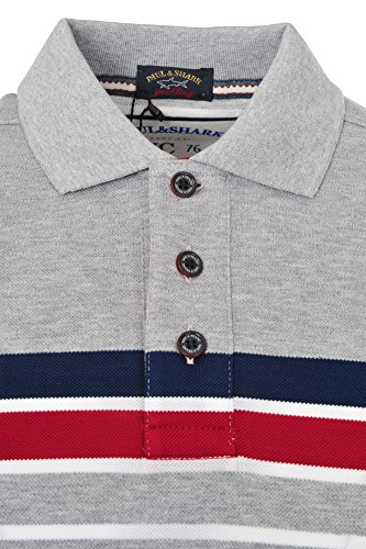 Paul & Shark Polo Poloshirt Einfarbig Grau XL