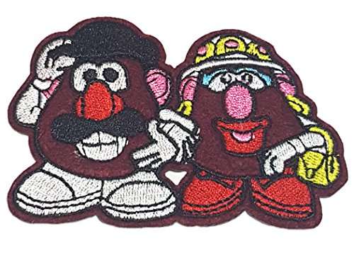Application Cartoon Classic Toy Story Mr. & Mrs. Potato Heads Cosplay Badge Embroidered Iron or Sewn-On Applique (Mrs Jason Halloween Costume)