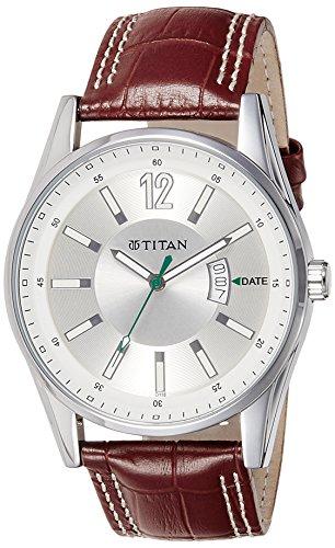 Titan Octane Analog Silver Dial Men #39;s Watch   NE9322SL03J