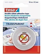 tesa Dubbelzijdig plakband, transparant, 1 x 10 m: 12 mm
