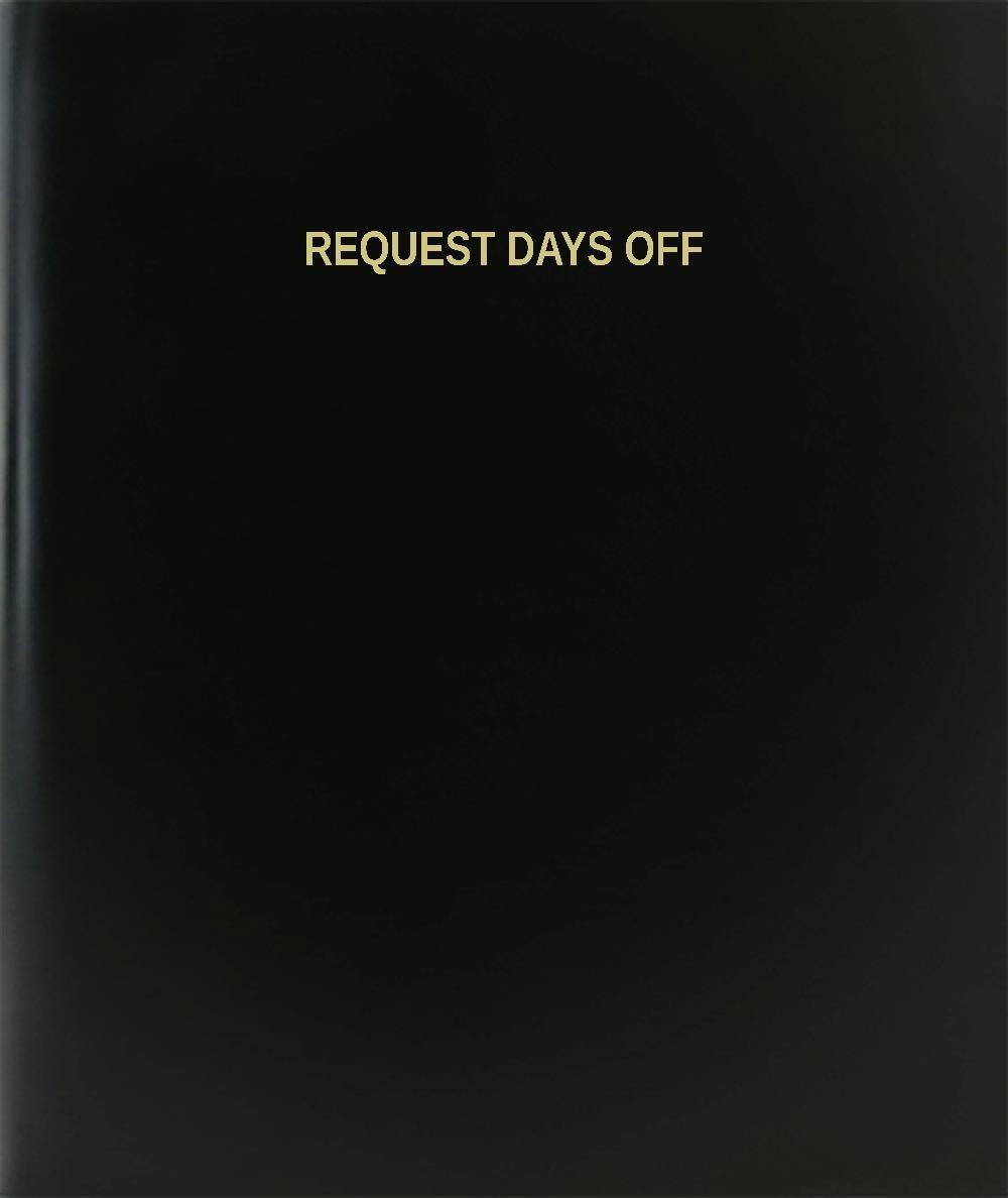 BookFactory® Request Days Off Log Book / Journal / Logbook - 120 Page, 8.5''x11'', Black Hardbound (XLog-120-7CS-A-L-Black(Request Days Off Log Book))