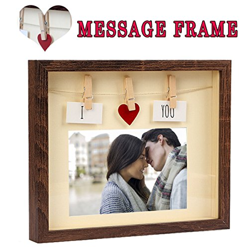 Giftmon Love Picture Frame With Mat By, MDF Wood & Glass Pan