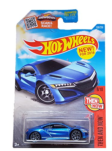 HOT WHEELS SPRING EXCLUSIVE THEN AND NOW BLUE '17 ACURA NSX SHOWDOWN SCAN & RACE CARD - Hot Acura Wheels Nsx