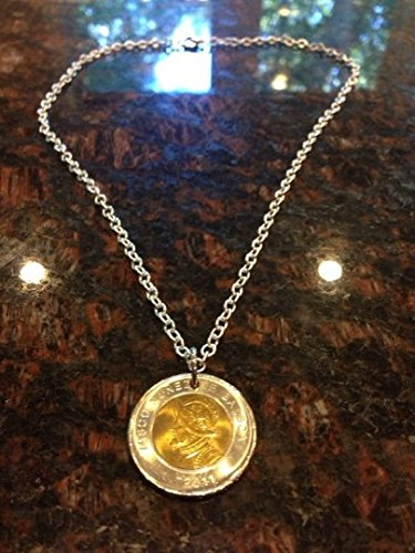 Panama 1 Balboa coin necklace