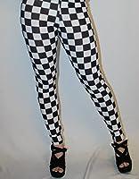 Black White Checker Chess Check Printe Legging