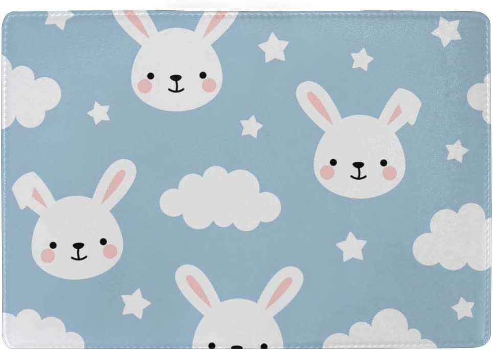 Leather Passport Holder Cover Case Cute Bunny Rabbit With Carrot Heart Stylish Pu Leather Travel Accessories Passport Cover Waterproof For Women Men
