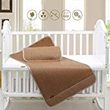 Zzaini Rattan Summer sleeping mat, Cooling Topper pad Ice silk mat Folding Non-slip Double sided-A 160x80cm(63x31inch)