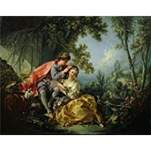 high quality polyster Canvas ,the Best Price Art Decorative Canvas Prints of oil painting 'Francois Boucher - The Four Seasons-Spring, 1755', 20x25 inch / 51x64 cm is best for Home Office decor and Home artwork and Gifts