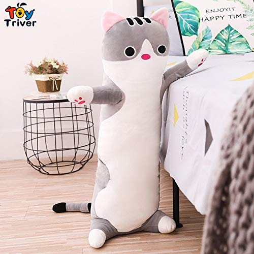 Plush Toy Cat Kitty Suffed Animal Doll Boyfriend Long Hugging Pillow Cushion Pregant Woman Bolster Sleeping Companion Gift Must Have Gifts Gift Wrap The Favourite Toys Superhero Cake Topper by I Love T-Shirt