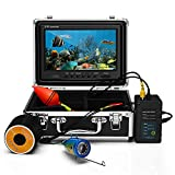 Eyoyo 9 Inch Underwater Fishing Camera Video DVR Recording Fish Finder HD 1000 TVL LCD Monitor Waterproof Camera Adjustable Infrared & White Light for Ice Lake Sea Boat Kayak Fishing 30m(98ft) Cable