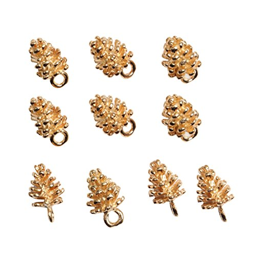 - MonkeyJack 10 Pieces Gold Pine Cone Charms Pendant Hair Jewelry for Hair Clip Pin Slide DIY Accessories
