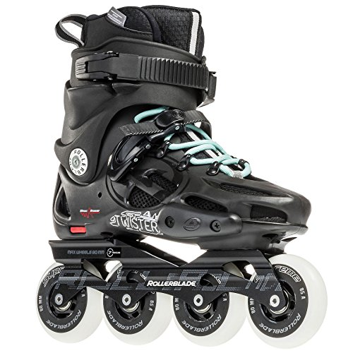 Rollerblade Twister 80 2017 Urban Twincam ILQ 7 Plus Bearings Inline Skates, Black/Light Blue, US Women's 6 Black Womens Ice Skates