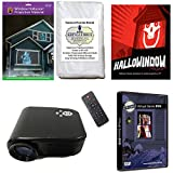 Christmas and Halloween Digital Decoration Kit includes 800 x 480 Resolution Projector, Hollusion + Reaper Bros Rear Projection Screens, Santa in Window and Hallowindow 1&2 DVD's