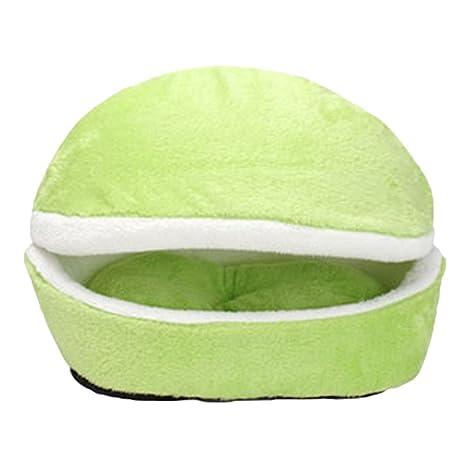JEELINBORE Decorativo Cómodo Camas Sofás Cojín para Gatos Perros Animales pequeño Lavable Desmontable Casa (Verde