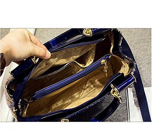 Eysee - Cartera de mano para mujer Negro rojo 28cm*18cm*5.5cm azul