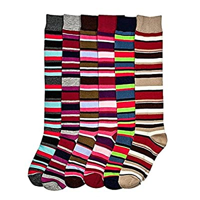 Mamia Women's Fancy Design Multi Color Knee High Socks (6 pairs) at Women's Clothing store