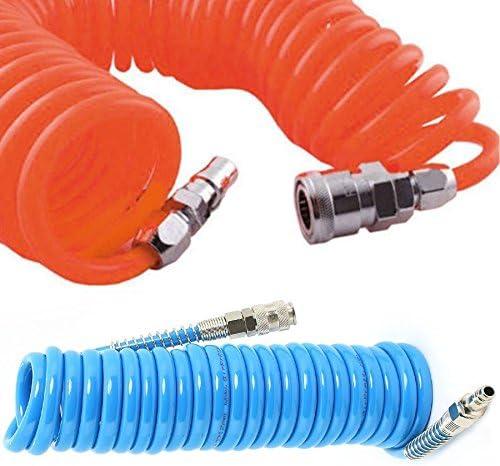 Takestop/® Tubo Aire Comprimido a espiral flexible para compresor 8/metros Uni/ón espiral alargador /Ã /˜ 7/mm neum/ático Color aleatorio
