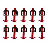 Acouto Motorcycle Modification Screw,10xMotorbike M6 6mm x 30mm Aluminum Fairing Bolts Spire Speed Fastener Clips SP