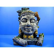 "Ancient Jungle Statue Ruins Cave 7""x4.7""x8.2"" Aquarium Ornament Decor - bonsai"
