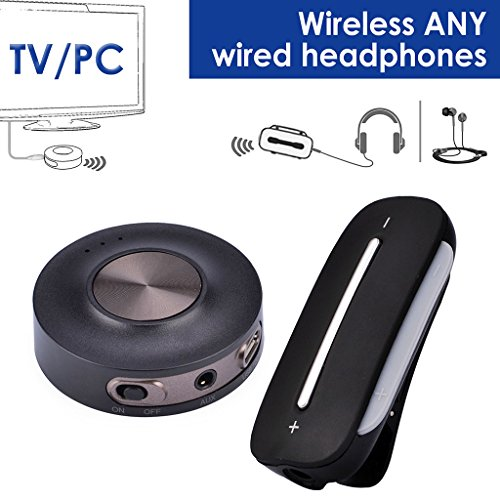 Avantree HT3187 Wireless Bluetooth 4.2 Transmitter and Receiver TV SET For Headphones Watching TV PC, Speakers Home Stereo, Support RCA 3.5MM Aux Audio USB, aptX Low Latency PLUG & PLAY [24M Warranty]