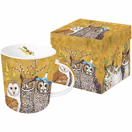 Paperproducts Design Mug In Gift Box Featuring Owl Family Design, 5 x 4 x 4