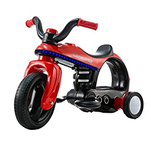 Costzon Ride On Motorcycle, 6V Battery Powered Ride On Three Wheeler, Electric Toys for Boys and Girls 3 - 5 Year Olds (Red)
