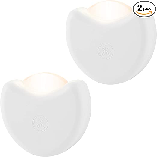 Ge Automatic Led Night Light 2 Pack Plug In Dusk To Dawn Sensor Directional Compact Ideal For Bedroom Nursery Bathroom Hallway Kitchen