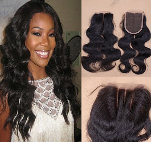 Romantic Angels 18''(45cm) Middle Part Lace Closure Tissage Bresilien Ondule Body Wave Lace Frontale (4 * 4)