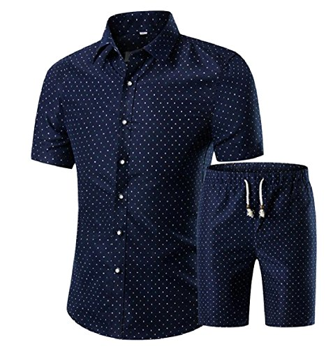 Summer Shorts zhaoabao Printed AU Piece Men and Outfits Dress 8 Shirt Short Sleeve 2 qz4p8xqw
