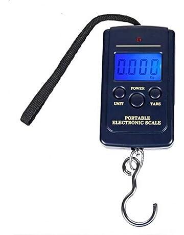 Electrónico Báscula De Mano Colgar Equipaje 40kg con Luz de Fondo para Pesca, Maletas,