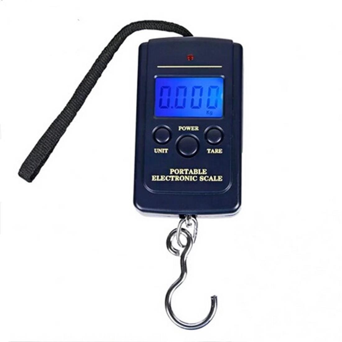 Electrónico Báscula De Mano Colgar Equipaje 40kg con Luz de Fondo para Pesca, Maletas, Equipaje de Viaje Azul DZC01 Glield