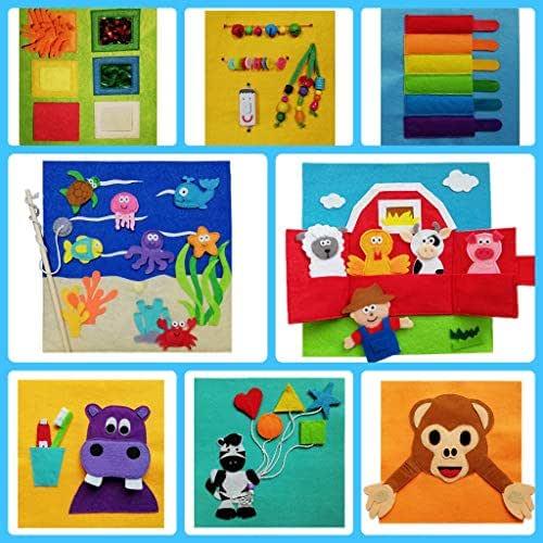 QUIET BOOK (0-24 meses) Libro sensorial Montessori juguete