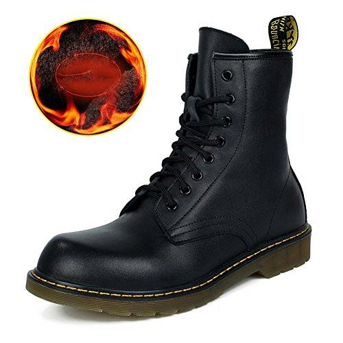 Zapatos del tendón del ocio de los hombres vestido escalar montañas otoño aire libre pies grandes zapatos deportivos resbalón encendido negro-marrón-D Longitud del pie=38EU