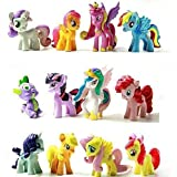 Top Valu 12pcs My Little Miss Pony Colorful Cupcake Cake Topper PVC Action Figures Kids Girl Toy Dolls Decoration Birthday Function Party Cake Kitchen Dish Plate Table Decoration Figure by Top Valu