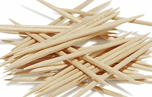 100 Pieces by HealthNode Handcrafted Wood Toothpicks