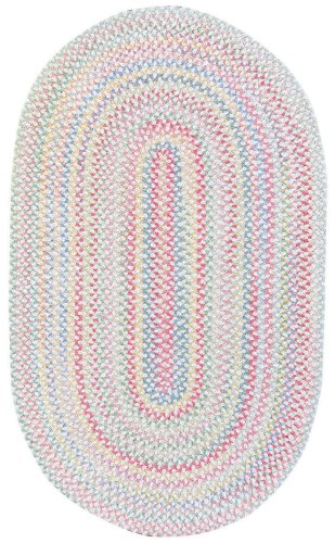 Capel Rug - Capel Rugs Baby's Breath 2 x 4 Oval Braided Area Rug (Natural)