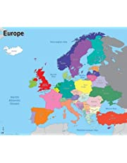 Wildgoose Education WG3519 Simple mapa de Europa, 67 cm x 57 cm