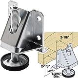 Platte River 937023, 4-pack, Hardware, Casters And Glides, Adjustable Glides, Heavy-Duty Adjustable Leveler